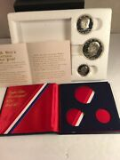 1776-1976-s Bicentennial Proof Set Ike 1 1/2 And1/4 40 Silver Coins Us Mint Andcoa