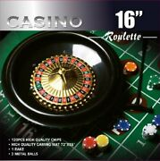 Best Roulette Wheel Game Set W/ Felt Layout And 120 Chips For Casino And House Party