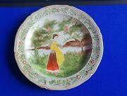 19th Century Villeroy And Boch Hand Painted Plate - Unusual