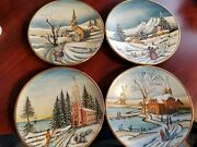Veneto Flair Italy Plates, By Tiziano, Christmas Card Hand Etched 1975 To 1978