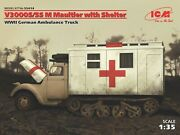 Icm 35414 V3000s/ss M Maultier With Shelter Wwii 1/35 Plastic Model Kit 182mm