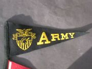 Vintage Army Felt Pennant Great Condition Many More Available