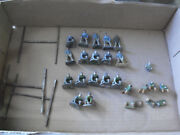 Rare Lot Of 21 Vintage Eire Metal Football Figures With Goalposts