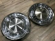 1962 1963 Lincoln Continental Used Oem Ford Hubcaps 2 Pieces