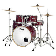 Pearl Drums Exl725p/c Export Exl 5pc Drum Kit W/ Hardware Pack Natural Cherry