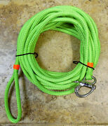3/8 X 45 Ft. Neon Green Dac/polyester Halyard Spliced In S/s Fixed Bail Shack.