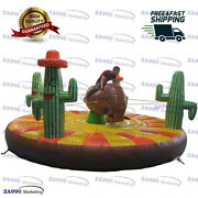 16ft Inflatable Cacti Manual Human Rodeo Bull Riding Game With Air Blower