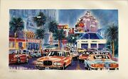 Michael Bryan -serigraph -sunset Boulevard- Signed And Numbered- An Iconic Print