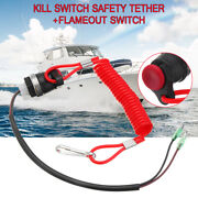 Boat Kill Switch Tether Cord Lanyard For Marine Mercury Tohatsu Outboard Engine