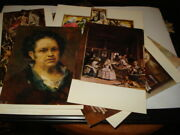 Vintage 1972's Old 13 Post Cards Masters Reproductions / Prado Museum Spain /