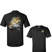 Jumping Walleye Pike Lake Fishing Father's Day Tee T Shirt Gift New