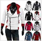 Menand039s Stylish Creed Hoodie Zipper Coat Cosplay For Assassins Jacket Costume Coat