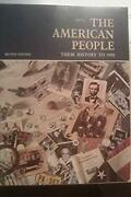American People Their History To 1900 Second Edition Henry C. Dethloff