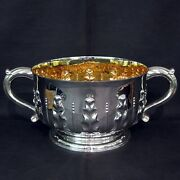 Large Two Handle Bowl By Mappin And Webb
