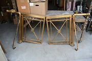 + Nice Pair Of Older Altar Rail Gates With Mounting Bars + Chalice Co. Cu243