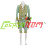Colonial Victorian Elegant Medieval Cosplay Costume 18th Menand039s Rococo Court Suit