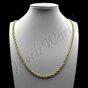 Real 10k Solid Yellow Gold Rope Chain Necklace Bracelet 2mm 2.5mm 3mm 16-30