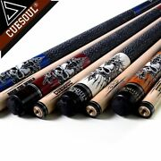 Professional Snooker Billiards Maple 13mm Tip Pool Cue Stick Set Free Shipping