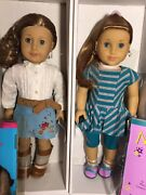 American Girl Doll Mckenna And Nicki Pierced Ears And Earrings Lot New In Boxes