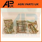 22pc Pto Lock Pin Assortment Power Take Off Lynch Linch Pins Tractor Linkage
