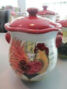 Canister Le Rooster By Susan Winget Certified International Flour Jar 10