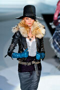 Dsquared2 Fox Crop Leather Jacket Fall/winter 2011 Size 40it