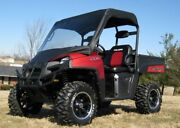 Vinyl Windshield And Roof Combo For Polaris Ranger 400 - Travels Highway Speed
