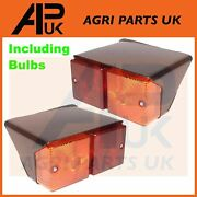 Pair Rear Lights Lamp Lh Rh For Ford New Holland Case International Fiat Tractor