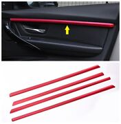 4pcs Red Interior Door Molding Strip Cover Trim For Bmw 3 Series F30 F31 2013-18