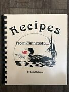 Vintage Recipes From Minnesota With Love 1981 Cookbook Old School
