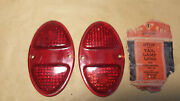 Lynx Vintage Nos Ruby Glass Stop Light Lens And03931 -and03932 Chevy And03931-and03940 Trucks 1 Pr.