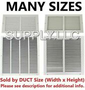Air Return Vent Cover Duct Size Grille Steel Wall Sidewall Ceiling White