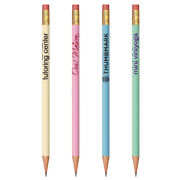 576 Custom Round Pastel Pencils, Assorted Colors, With Your Logo, Message