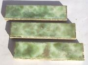 1x4 Antique Tile In Green/light Blue -1 Piece- Salvaged
