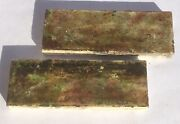 1 1/2x4 Antique Tile In Brown/green -1 Piece- Salvaged