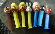 Lot Of 7 Pez Dispensers Warner Bros Characters Taz Sylvester Sam Other