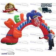 39x20ft Inflatable Clown Archway Entrance Arch For Activities With Air Blower