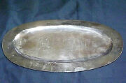 Plateado Mexico Silver Plated Oval Serving Platter Signed Lmr S.a. 113 12 Long