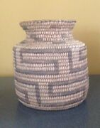Vintage Pima Olla Indian Basket 5 X 5 C. Late 1800andrsquos-early 1900and039s
