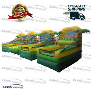 Commercial Inflatable 4 In 1 Activities Carnival Sport Games With Air Blower