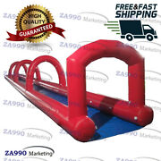 66x6.6ft Inflatable Water Slip N Slide For Kids And Adults With Air Blower