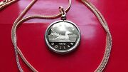 1993 Golden Canada Loonie Proof Gold Fill Pendant On A 28 Foxtail Golden Chain