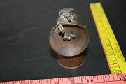 Vintage Justrite Carbide Coal Miners Lamp Patent Applied For