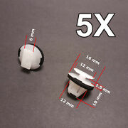 5x Wheel Arch Surround Trim Wing Moulding Clips For Nissan X-trail And Juke