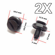 2x 7mm Radiator Cover Engine Undertray Trim Clips For Toyota