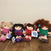 Qvc Shareables Doll Lot 4 1994 Heart Shape Backpack Hair Accessories Vintage