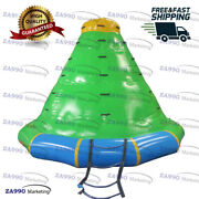 11.5x8.2ft Inflatable Floating Iceberg Water Rock Climbing Sea With Air Pump