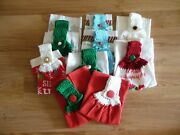 Handmade Crocheted Top Kitchen Hand Towels You Choose Christmas / Fall