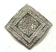 Solid 18k White Gold And 2.96 Ct Diamonds Ladies Pendant- Appraisal 9,290.00