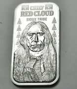 Indian Chief Read Cloud - Sioux Tribe .999 Pure Silver Mint Bar Ingot Rare
